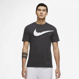 Футболка мужская Dri-FIT, размер 46-48 Nike. Цвет: серый