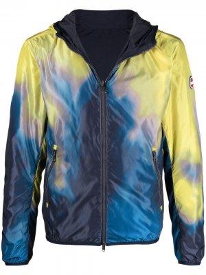 Куртка с капюшоном и абстрактным принтом Colmar. Цвет: синий