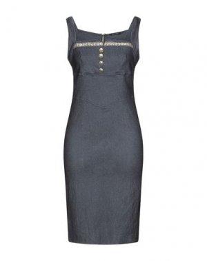 Платье до колена DENNY ROSE. Цвет: синий