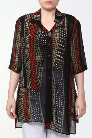 Блузка CHALOU. Цвет: черный