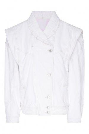 Белая джинсовая куртка Isabel Marant. Цвет: белый