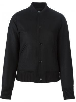 Куртка-бомбер на пуговицах A.P.C.. Цвет: чёрный