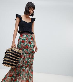 Эксклюзивная юбка мидакси Anna Sui. Цвет: мульти