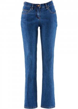 Прямые джинсы стретч bonprix. Цвет: синий