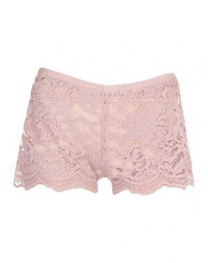 Повседневные шорты I-AM. Цвет: пастельно-розовый