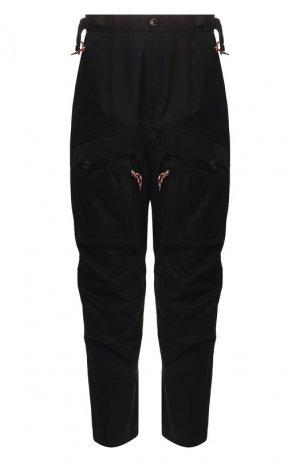 Хлопковые брюки Burberry. Цвет: черный