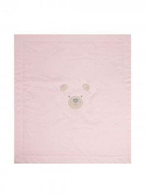 Одеяло с аппликацией Il Gufo. Цвет: розовый