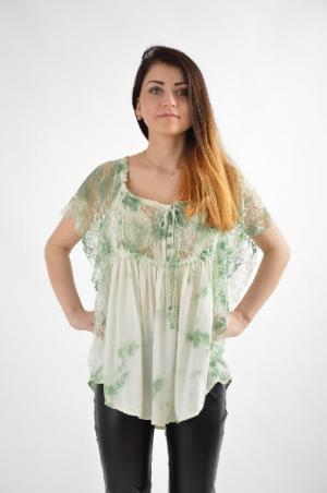 Блуза Fracomina. Цвет: зеленый
