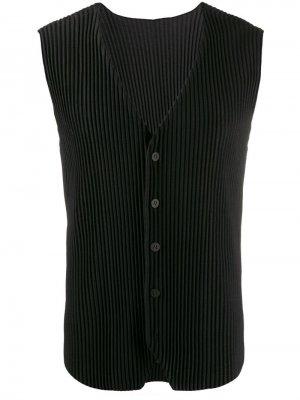 Плиссированный жилет Homme Plissé Issey Miyake. Цвет: черный
