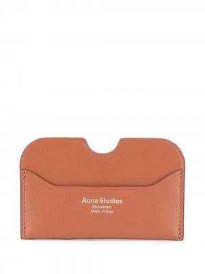 Картхолдер Elmas S с логотипом Acne Studios. Цвет: коричневый