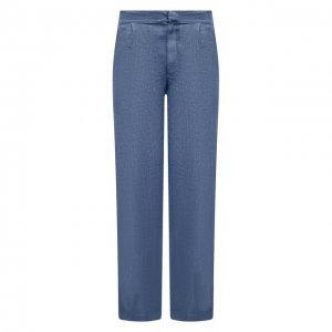 Льняные брюки Gran Sasso. Цвет: синий