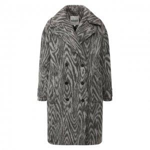 Двубортное пальто Kenzo. Цвет: серый