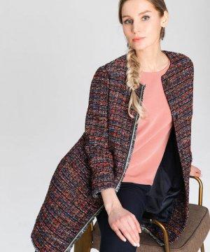 Пальто из твидовой ткани O`Stin. Цвет: многоцветный