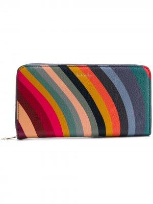 All-around zipped wallet Paul Smith. Цвет: синий