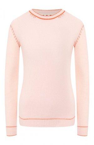 Кашемировый пуловер Marni. Цвет: светло-розовый