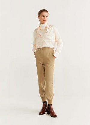 Спортивные брюки - Joggy Mango. Цвет: песочный