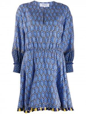 Платье Cassia с цветочным принтом Derek Lam 10 Crosby. Цвет: синий