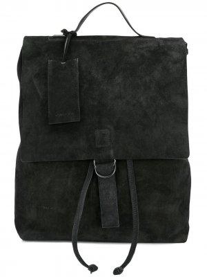 Рюкзак с биркой Marsèll. Цвет: черный