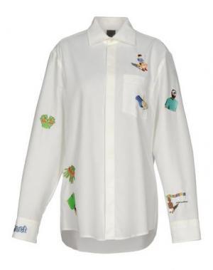 Pубашка BERNHARD WILLHELM. Цвет: слоновая кость