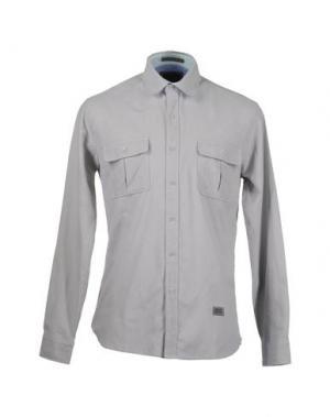 Рубашка с длинными рукавами FRESHJIVE. Цвет: светло-серый