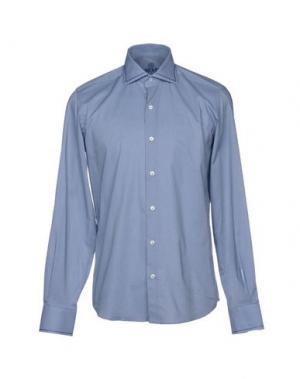 Pубашка HARRY & SONS. Цвет: лазурный