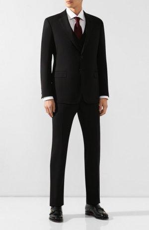 Шерстяной костюм-тройка Giorgio Armani. Цвет: чёрный