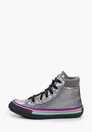 Кеды Converse. Цвет: серебряный