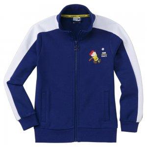 Детская олимпийка x PEANUTS Kids Track Jacket PUMA. Цвет: синий