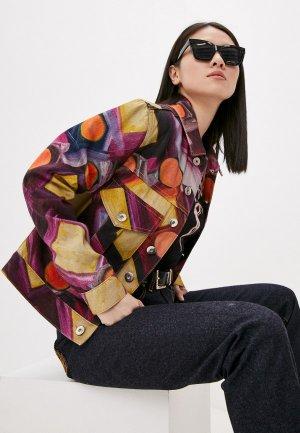 Куртка джинсовая Vivienne Westwood. Цвет: разноцветный