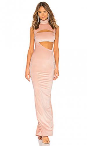 Вечернее платье с вырезом sonja Michael Costello. Цвет: румянец