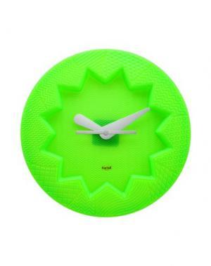 Настенные часы KARTELL. Цвет: зеленый