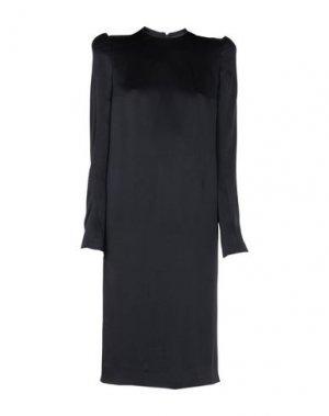 Платье длиной 3/4 HAIDER ACKERMANN. Цвет: черный
