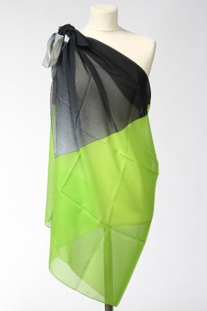Парео F.FRANTELLI. Цвет: зеленый, серый, черный