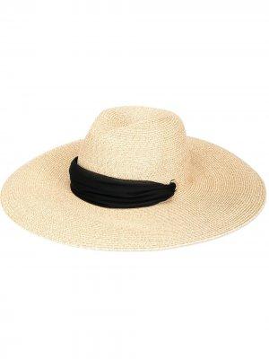 Плетеная шляпа Cassidy Eugenia Kim. Цвет: желтый