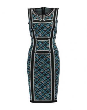 Короткое платье HERVÉ LÉGER. Цвет: лазурный