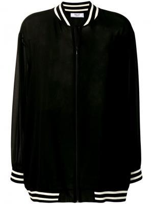Полупрозрачная куртка-бомбер Blugirl. Цвет: черный
