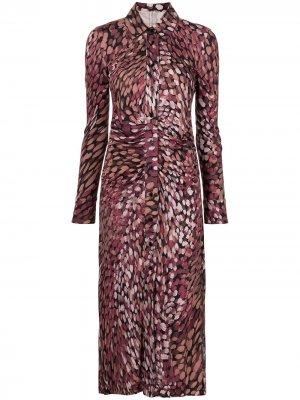 Платье-рубашка Claudia с принтом Altuzarra. Цвет: фиолетовый