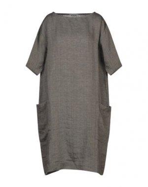 Платье до колена BIONEUMA NATURAL FASHION. Цвет: темно-коричневый