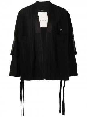 Кружевное кимоно с двойными рукавами Song For The Mute. Цвет: черный