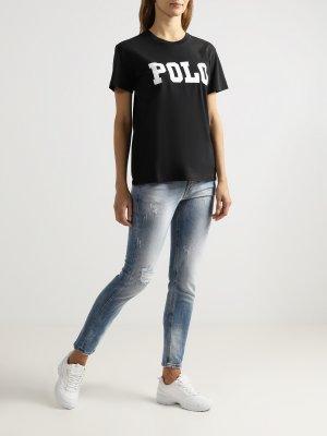 Футболка Polo Ralph Lauren. Цвет: chernyy