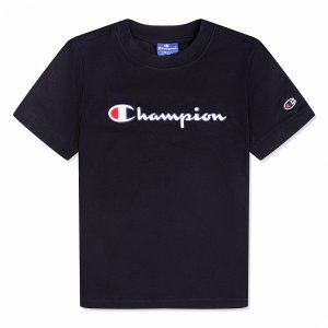 Crewneck T-Shirt Champion. Цвет: черный
