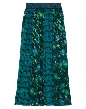 Длинная юбка ANNA SUI. Цвет: зеленый