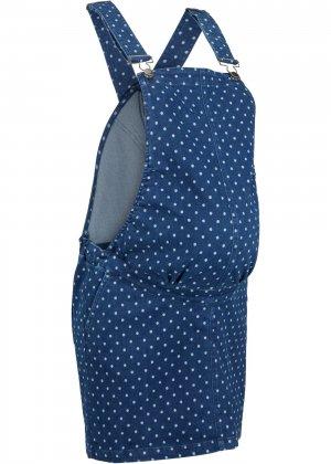 Юбка-комбинезон для беременных bonprix. Цвет: синий