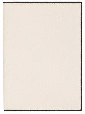Обложка для паспорта Valextra. Цвет: бежевый