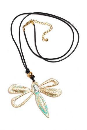 Кулон Золотоя стрекоза FRANSUA ARDY. Цвет: золотой