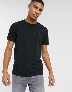 Черная футболка с логотипом -Черный Abercrombie & Fitch
