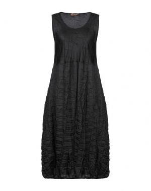 Платье длиной 3/4 CLUB VOLTAIRE. Цвет: черный