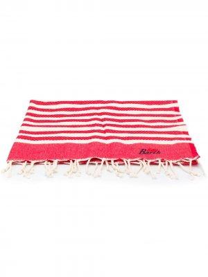 Пляжное полотенце в полоску Mc2 Saint Barth. Цвет: красный