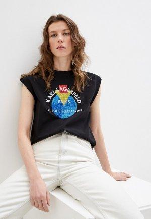 Майка Karl Lagerfeld. Цвет: черный