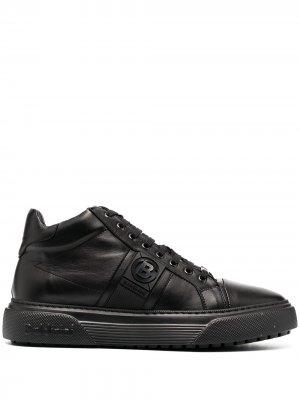 Высокие кроссовки на шнуровке Baldinini. Цвет: черный